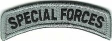 Grey Gray Black Special Forces Tab Patch VELCRO® BRAND Hook Fastener