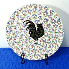 """GIEN France CHANTECLER Rooster Plate Platter 12"""" Reynard the Fox Chantecleer Coq"""