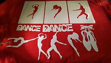 AIRBRUSH SHIRT SIZED STENCILS DANCE PACKAGE 15 INDIVIDUAL DESIGNS AIR BRUSH ART