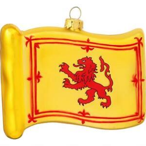 Scotland Flag Glass Ornament Scottish Christmas Tree Hanging Lion Rampant Gift