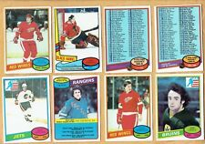 1980-81  OPC  Partial set  141 cards  EX-EX+