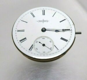 Elgin Gr 65 Pocket Watch 6s 13j Model 1 Hunter Beautiful Porcelain Dial 2440105