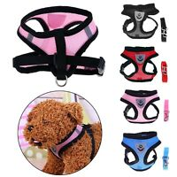 Breathable Pet Dog Harness Vest Leash Walking Traction Lead Rope Chest Straps