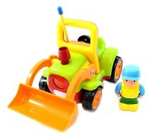 RC Cartoon Construction Truck Toy 2CH Remote Control Steering Wheel Green