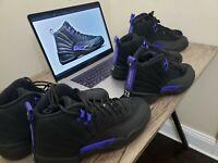 *WORN ONCE* Nike Air Jordan 12 Retro Black Dark Concord / Size 8 / CT8103-005