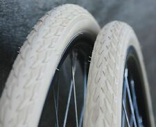 "700x35 Antique Cream White 29 Schwalbe Cruiser Bicycle Tires 28"" Wood Wheel Bike"