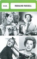 Rosalind Russell  USA  ACTRICE  ACTRESS  FICHE CINEMA