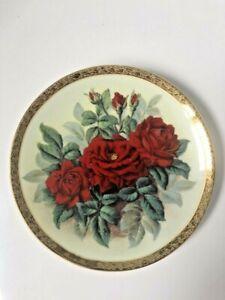 Bradford Exchange Furstenberg Rose du Roi Decorative Plate Beautiful Old Roses