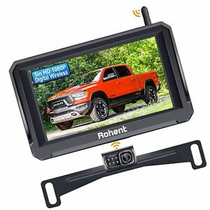Wireless Backup Camera with 5 Inch Monitor, Rohent R3 HD 1080P Bluetooth Back...