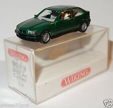 MICRO WIKING HO 1/87 BMW SERIE 3 COMPACT VERT FONCE IN BOX