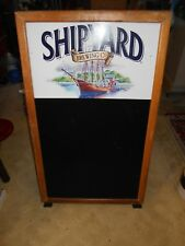 Ship Yard Brewing D Sided Chalkboard Sidewalk Sign Menu Board Sandwich A Frame