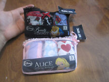 Disney Beauty and the Beast + Alice in Wonderland Girls 3-Pack Panties S SMALL