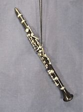 Black Clarinet Ornament Musical Instrument Collectible Holiday Home Decor