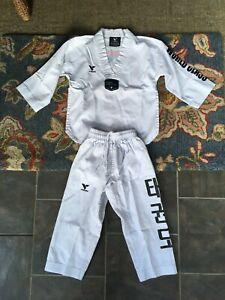 Vision DXV World Class Taekwondo Youth White Uniform Size 000/120 Small Master P