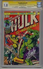 INCREDIBLE HULK #181 CGC 1.8 SS SIGNED STAN LEE & TRIMPE 1ST WOLVERINE LOOKS 7.0