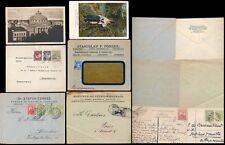 Rumania 1907-31 cubre + ppcs... 6 artículos