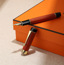 Jinhao Century 100 Acrylic Fountain Pen Medium Nib Reddish Orange without Box