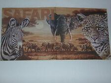 5 stück SAFARI servietten napkins sergenti elefanten ZEBRA afrika leoparden 1/2