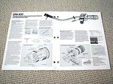 Technics EPA-100 phonograph tonearm brochure catalogue