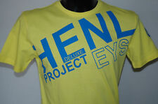 Henleys T Shirt Mens Fusion Yellow Big Blue Print XL Project Deluxe Cheap Sale