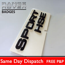 Range Rover SPORT Black Lettering  HSE for Land / Badge Logo Emblem TDV8 2014