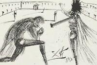 Salvador Dali Radirung - Signiert - 907/1200 - 1987Don Quichotte adoubé
