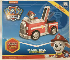 PAW Patrol, Marshall Fire Engine Vehicle with Collectible Figure Moveable Ladder