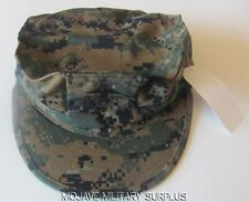New USMC Garrison Hat, Utility Cover, Woodland Digital, EGA,8-PT,  MEDIUM