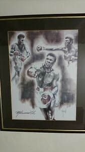 Muhammad ali Lithograph Signed Picture By Raymond