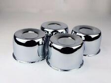 """4 Steel Short Chrome Center Caps For 4.25"""" Center Bore Trailer Wheel rims"""