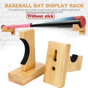 Baseball Bat Solid Wood Bracket Hanger Bamboo Ice Hockey Stick Bracket