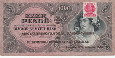 1000 PENGO VERY FINE  BANKNOTE FROM HUNGARY 1945!PICK-118!WITH OVERPRINT