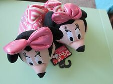 Disney--Girls Minnie Mouse Pink Novelty Slippers-Toddler 7-8 M--Msrp $26.99--New