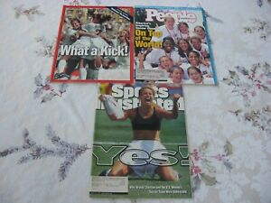 3 BRANDI CHASTAIN MIA HAMM U.S. Women's Soccer SI PEOPLE TIME Mags WORLD CUP
