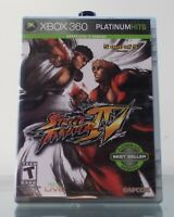 Street Fighter IV (Microsoft Xbox 360, 2009) Platinum Hits Complete Clean