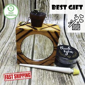Moroccan Eyeliner Kohl Powder Natural & Handmade Wooden Mascara Bottle Gift كحل