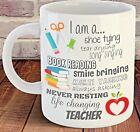 Thank You Teacher Mug, End of Term Present Leaving Gift, life changing teacher