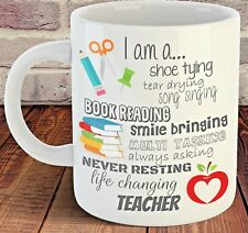 Thank You Teacher Mug, End of Term Present Leaving Gift, life changing teacher
