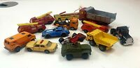 Job Lot Vintage Matchbox Cars Trucks 1960s 70s 80s Bundle Collectable x13