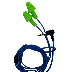 Workinbuds Green/Blue Earplug Earphones For Work