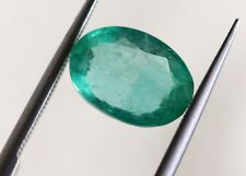 1.67 Ct Natural Emerald Loose Zambian Green Color Oval Mix Cut No Heat Gemstone