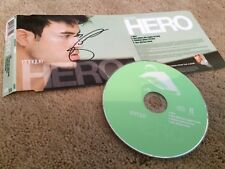 ENRIQUE IGLESIAS CD SINGLE HERO UK 4 TRACK SIGNED PERSONALLY FROM COLLECTION