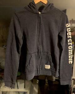 Abercrombie Kids Boys Navy Full Zip Up Hoodie Large L