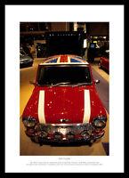 Mini Cooper Classic Car Framed Photo Memorabilia