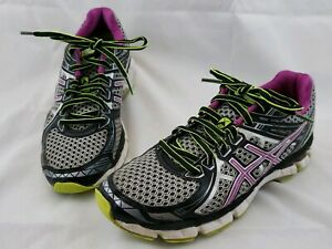 ASICS GT-2000 Purple Black Silver Running Shoes Women's Size 7.5 T3Q6N 2A