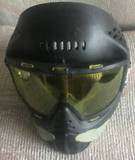 BRASS EAGLE BLACK PAINTBALL PROTECTIVE VENTED MASK WITH TINTED LENSES USED