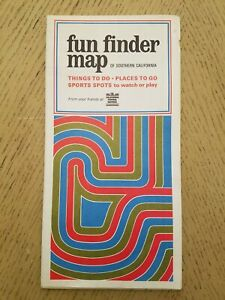 RARE 1968 PROMO Southern California Federal Savings Bank Fun Finders Map Places