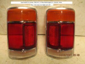 Opel Kadett A Caravan. 1963-65. New Tail lamp lens Right + Left, Hella