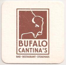 """Bufalo Cantina's - Bierdeckel """"Bar - Restaurant - Steakhaus"""""""