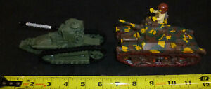 LEGO Military MOC 2 Tank type Vehicles lot of 2 both Painted 1 minifigure